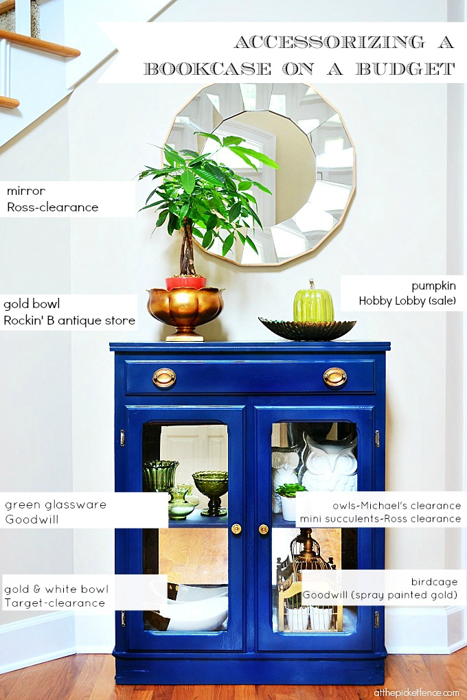 accessorizing a bookcase on a budget