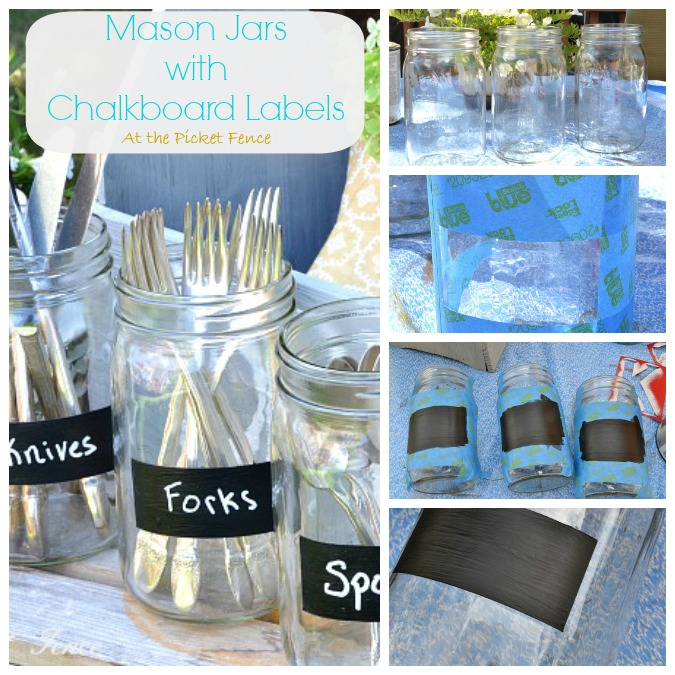 how_to_make_chalkboard_labels_on_mason_jars atthepicketfence.com