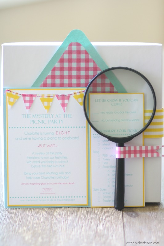 Nancy Drew detective birthday party invitation