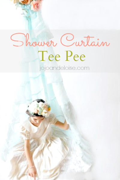 How to make a kids teepee from a shower curtain!