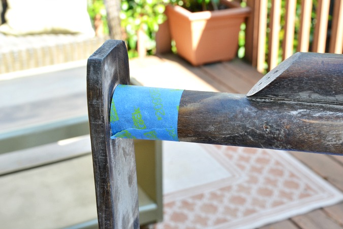 taped off handle