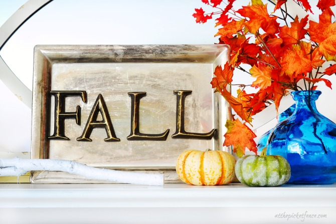 FALL Magnetic Letter Tray Art