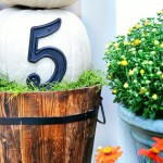 House Numbers Pumpkin Topiary 1