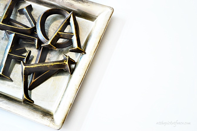 Magnetic Letter Tray Art