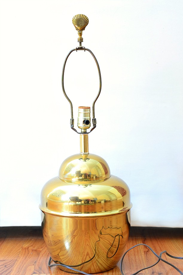 Brass lamp check our brass lamp parts photo gallery for Metal floor lamp makeover