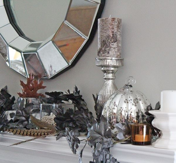 glam fall mantel