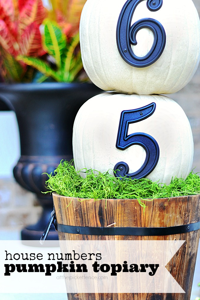 house numbers pumpkin topiary preview