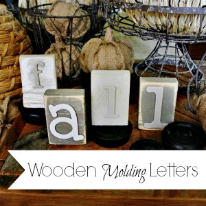 how to make wooden letters trash to treasure
