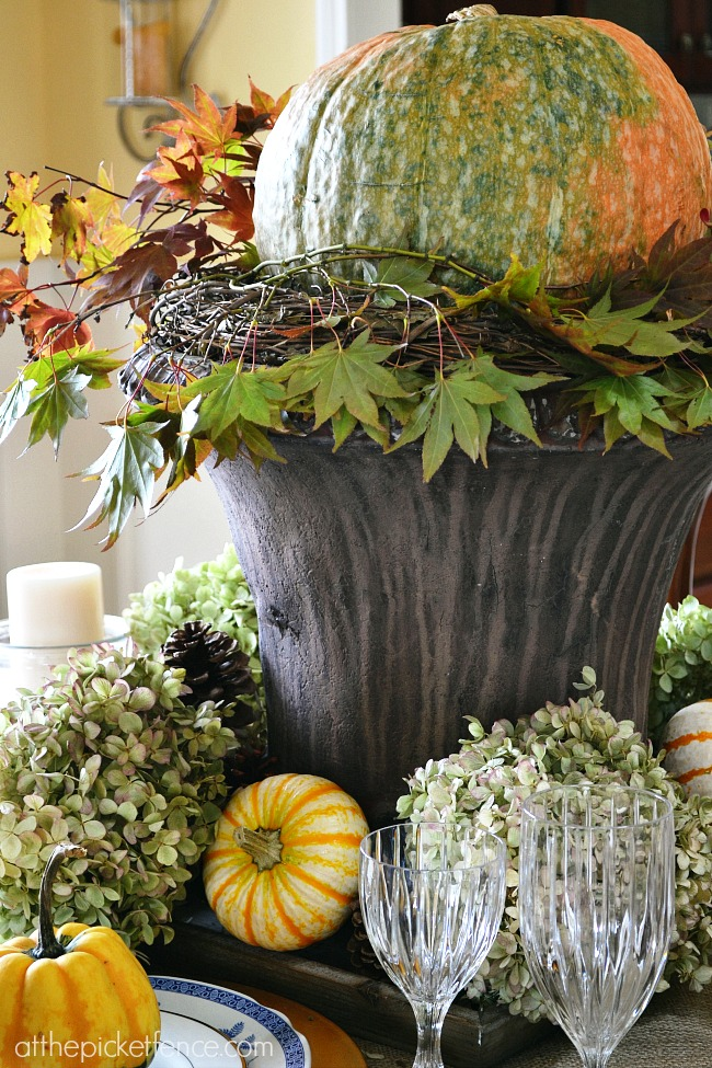 Nature inspired fall decorating a break up at the