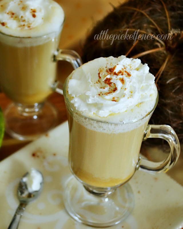 homemade pumpkin pie latte