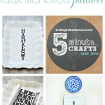 Faux Stenciled Holiday Platters