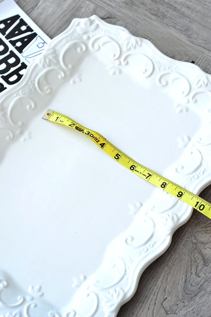 Faux Stenciled Platters measuring
