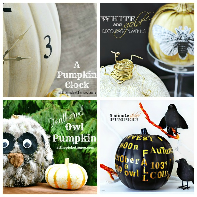 Four Fun Pumpkin Ideas from At The Picket Fence