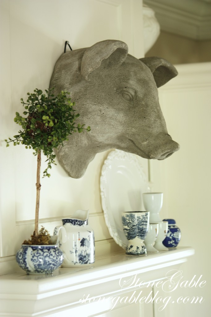 French country pig head wall decor farmhouse home decor for Pig decorations for home