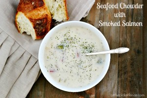 Seafood-chowder-with-smoked-salmon-and-dill atthepicketfence.com