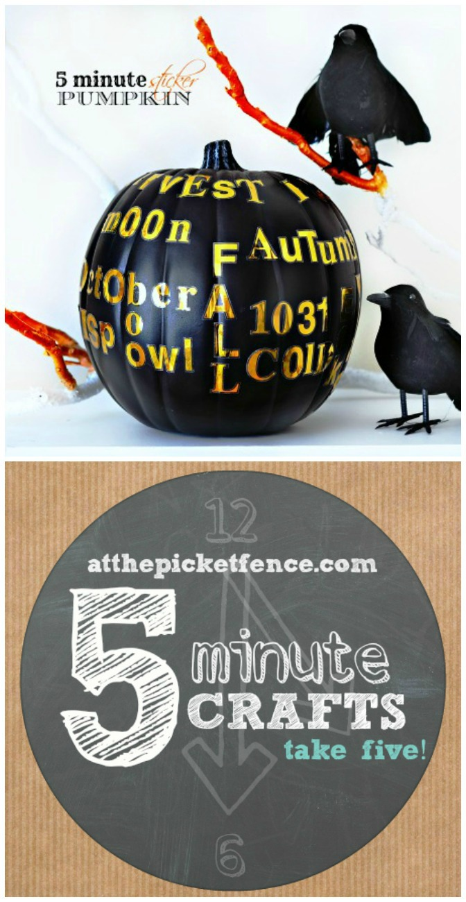 Take Five Five Minute Sticker Pumpkin