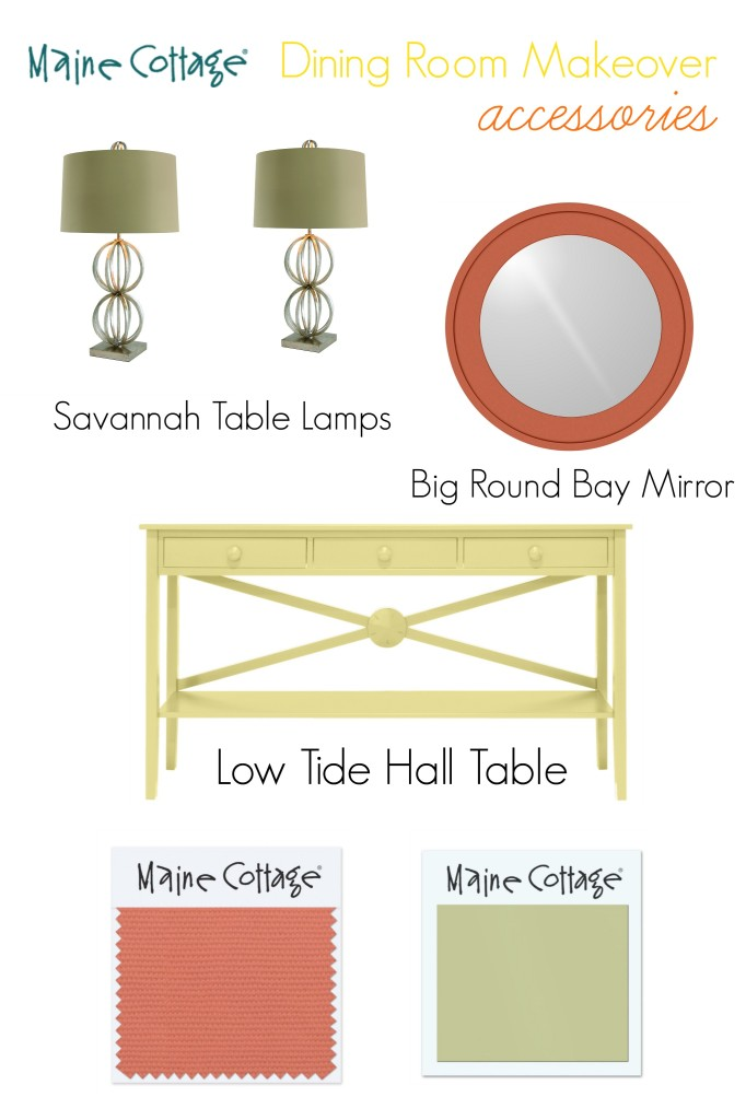 dining room makeover accessories board