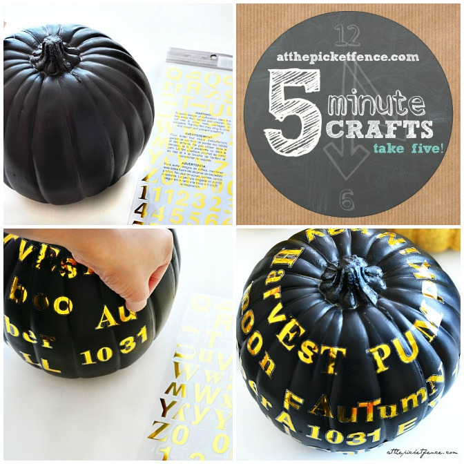 five minute sticker pumpkin craft tutorial