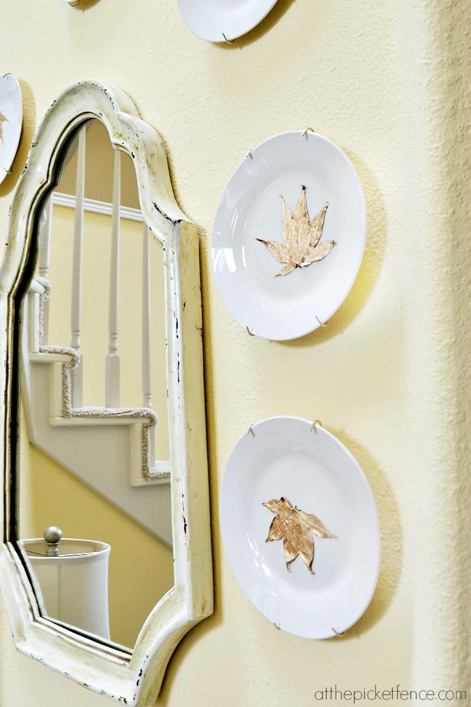 gold-gilded-leaf-plate from atthepicketfence.com