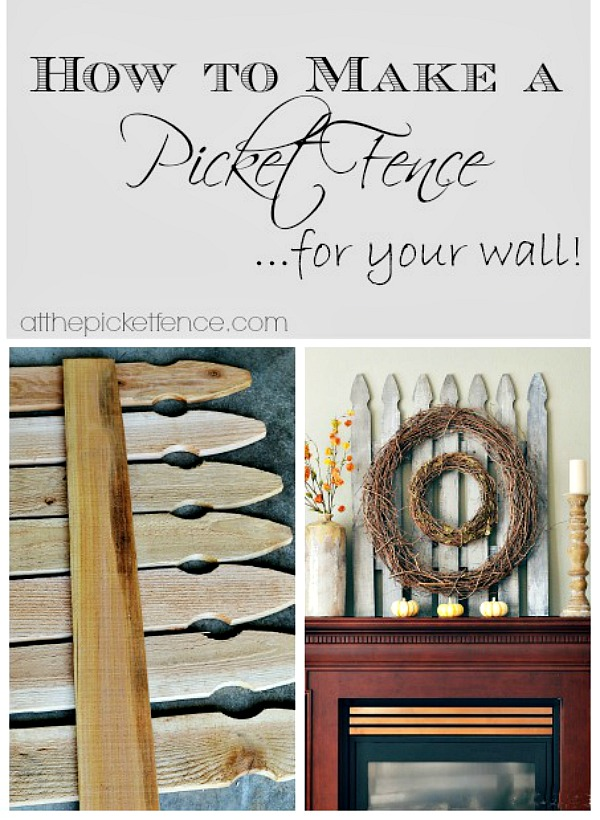 how to diy a decorative picket fence for your wall