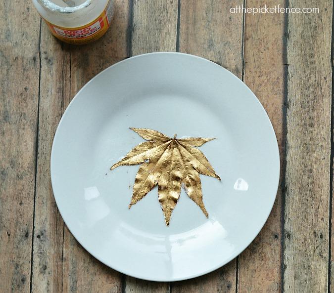 mod podge gold gilded leaf