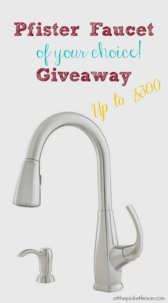 Pfister Faucet Review and Giveaway - At The Picket Fence