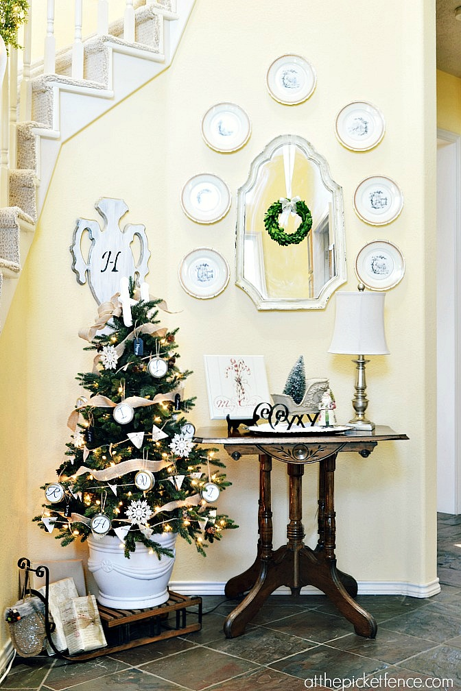 Monogram Themed Christmas Tree with Balsam Hill