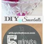 DIY decorative snowballs five minute craft atthepicketfence.com