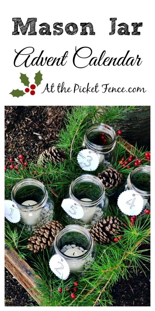Mason-Jar-Advent-Calendar atthepicketfence.com