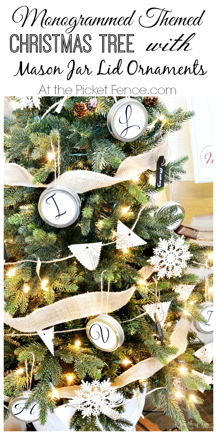 Monogrammed Themed Christmas Tree From