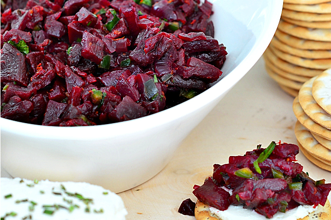 Roasted Beet Salsa Appetizer recipe