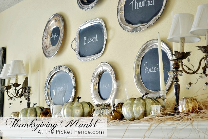 Thanksgiving-mantel-with-chalkboard-platters atthepicketfence.com