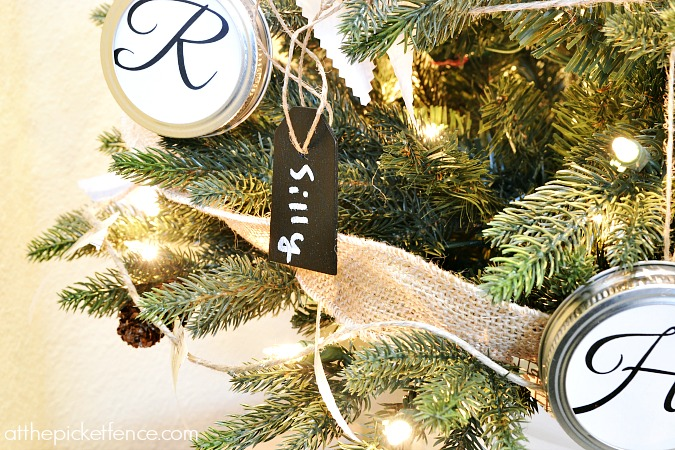 chalkboard tag ornaments from atthepicketfence.com