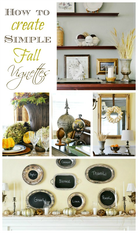 How to Create Simple Vignettes in Your Home