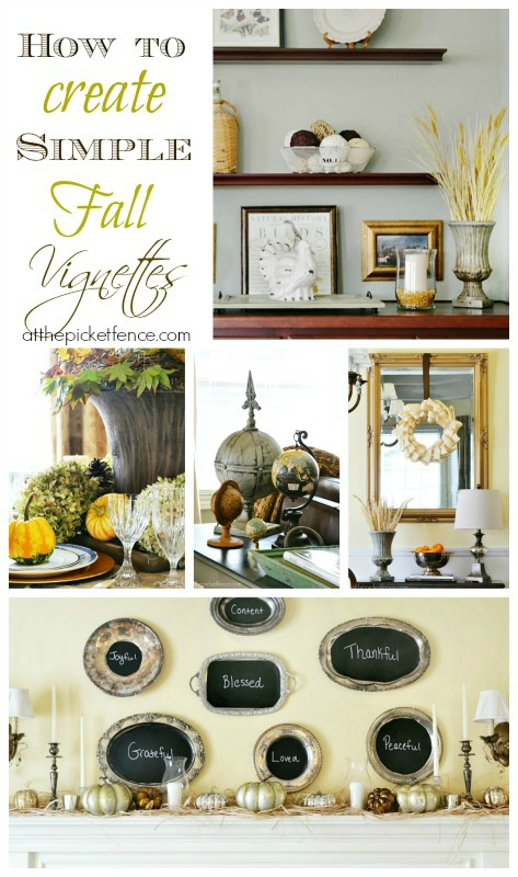 how to create simple fall vignettes from atthepicketfence.com