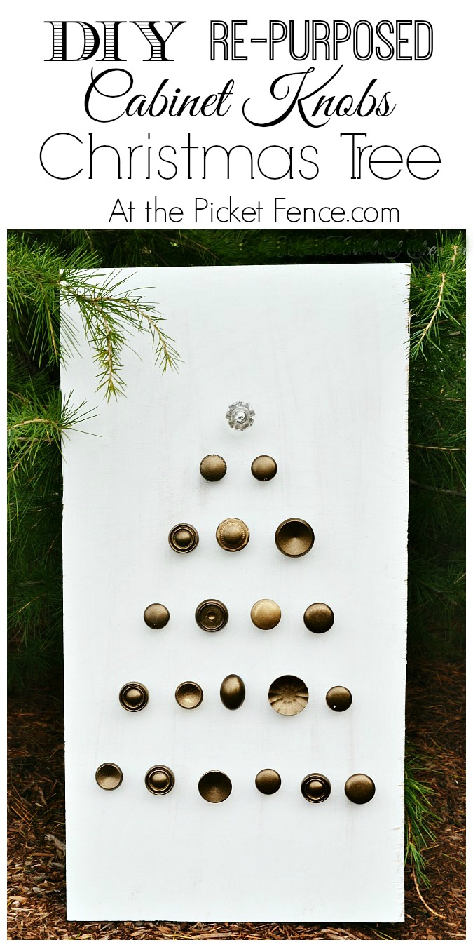 Diy Cabinet Knobs A Christmas Tree Made From Cabinet Knobs At The Picket Fence