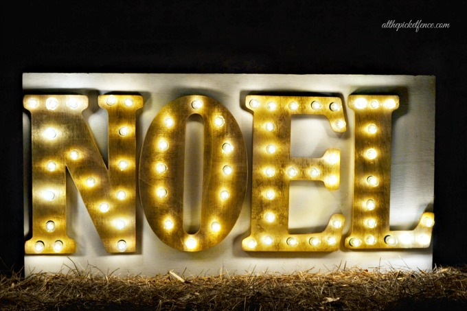 DIY outdoor lighted marquee sign