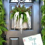 Holiday Housewalk Christmas front door from atthepicketfence.com