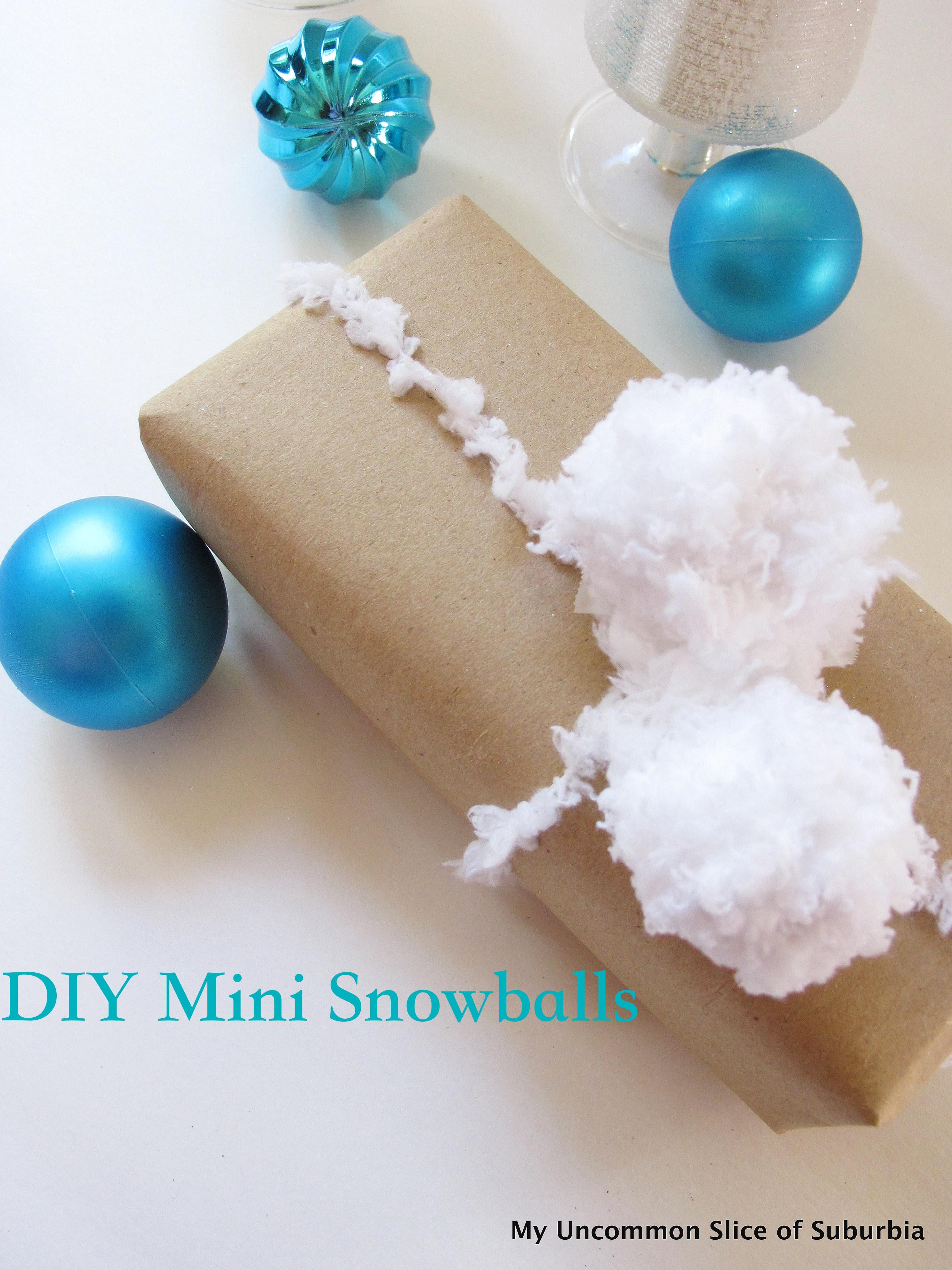 DIY Mini Snowballs