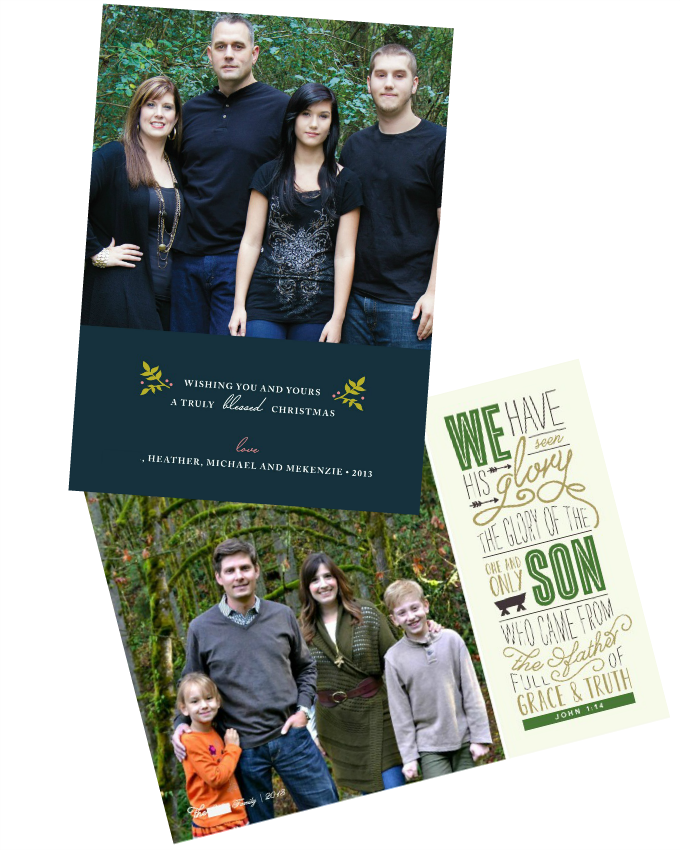 Minted Christmas Card Giveaway