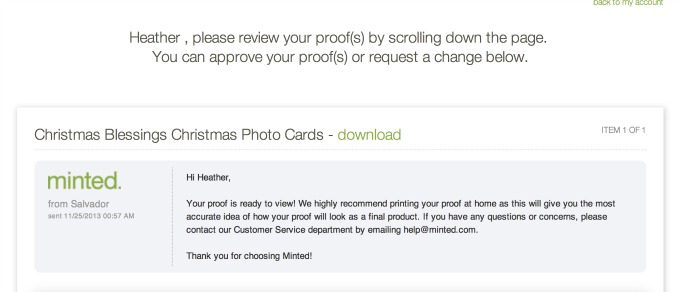 Minted Christmas Cards 2013 3