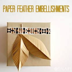 Paper Feather Embellishments