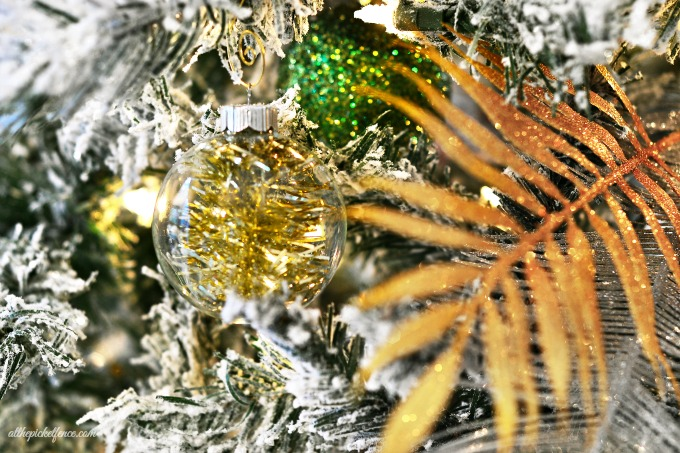 West Elm Inspired Tinsel Ornament