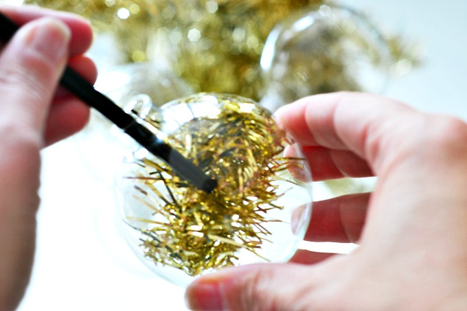 West Elm Inspired Tinsel Ornaments 3