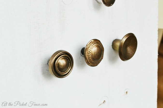 cabinet knobs on board