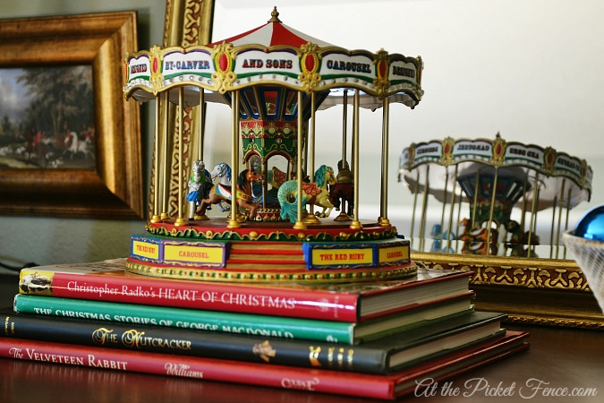 children's Christmas carousel from atthepicketfence.com