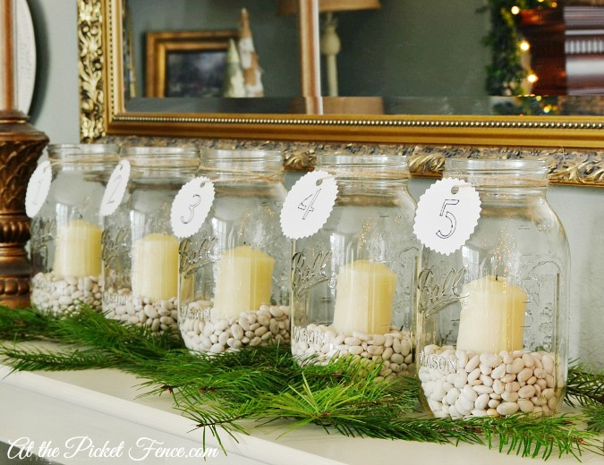 mason jar advent calendar atthepicketfence.com