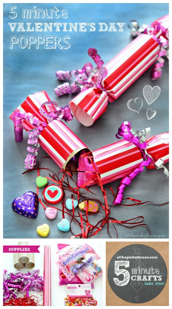 5 minute valentine's day poppers