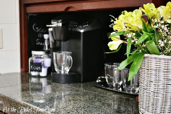 Coffee Station from atthepicketfence.com