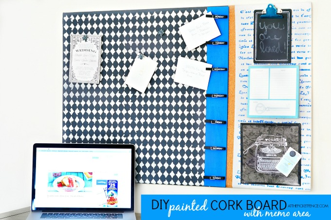 DIY Painted Cork Board
